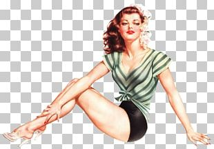 Pin-up Girl Artist Painting PNG