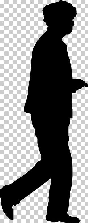 Silhouette Homo Sapiens Human Figure Black And White PNG