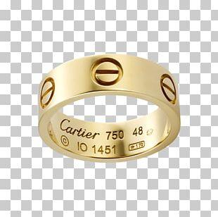 Cartier Colored Gold Wedding Ring Love Bracelet PNG