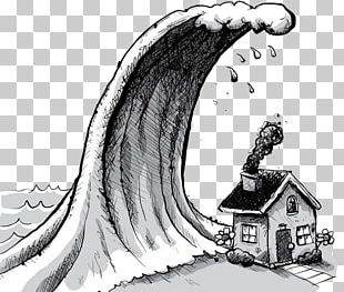 Tsunami Cartoon Wave Illustration PNG
