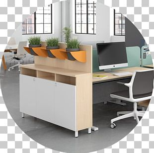 Desk Table Office Workstation Furniture PNG