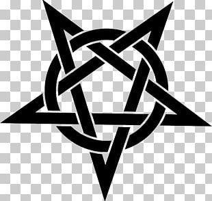 Pentagram Pentacle Stencil Wicca PNG