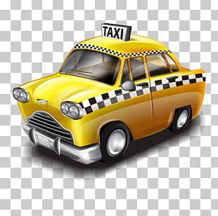 Taxi Car Repair Shop Yellow Cab PNG