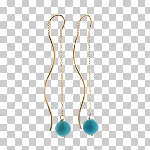 Turquoise Earring Body Jewellery Necklace PNG