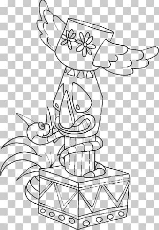 Totem Pole Coloring Book Drawing Native Americans In The United States PNG