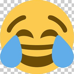 Face With Tears Of Joy Emoji Crying Sticker Discord PNG
