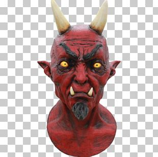 Lucifer Devil Mask Party City Halloween Costume PNG
