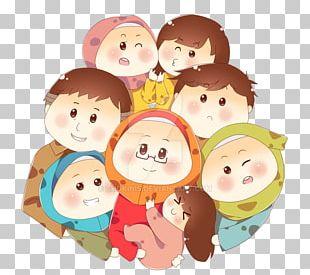 Family Muslim Islam Cartoon Child PNG