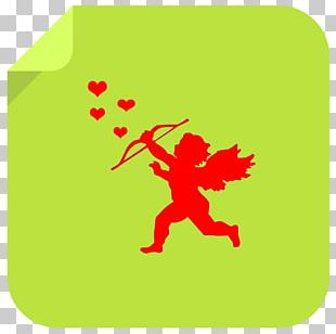 Valentine's Day Cupid Silhouette PNG