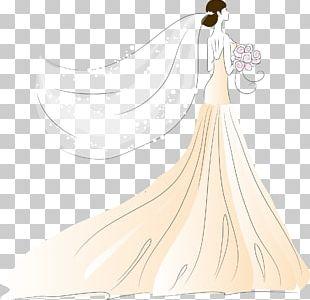 Bride Contemporary Western Wedding Dress PNG