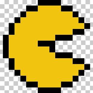 Pac-Man World 3 Minecraft Pixel Art PNG