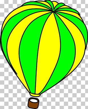 Hot Air Balloon Green PNG