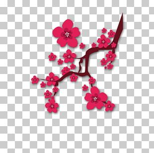Plum Blossom Chinese New Year PNG