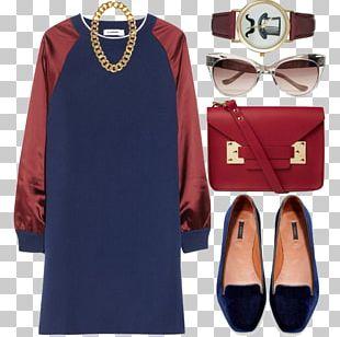 Fashion Dress Sleeve Collar Maroon PNG