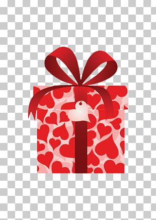 Valentines Day Gift Box Heart PNG