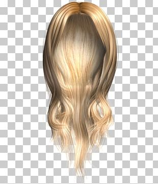 Wig Blond Hair PNG