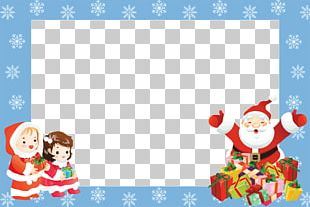 Christmas Frame Santa Claus Kids PNG