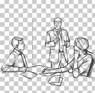 Meeting Business Drawing Illustration PNG
