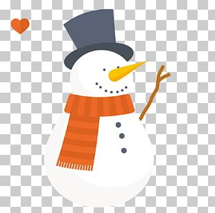 Snowman Christmas Card PNG