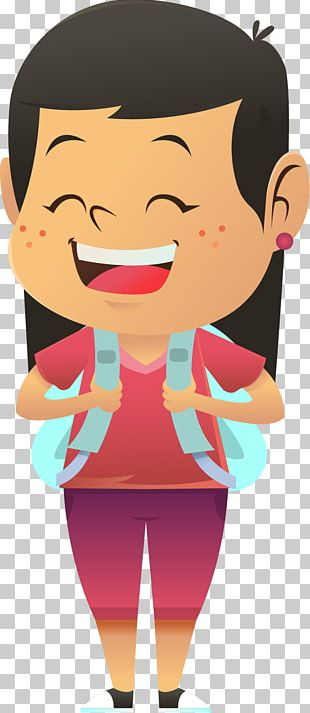 Student Animation School Girl PNG