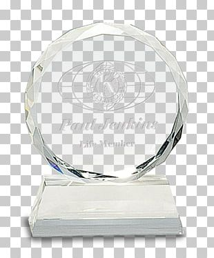 Crystal Trophy Award Glass Commemorative Plaque PNG