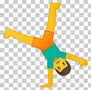Emojipedia Gymnastics Cartwheel Person PNG