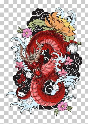 Tattoo Colouring Book Dragon Drawing PNG