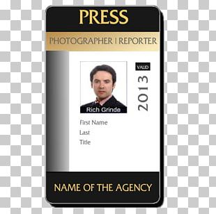 Template Identity Document Photo Identification Photographer Badge PNG