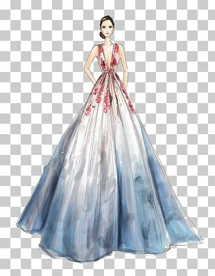 Wedding Dress Drawing Fashion Sketch PNG