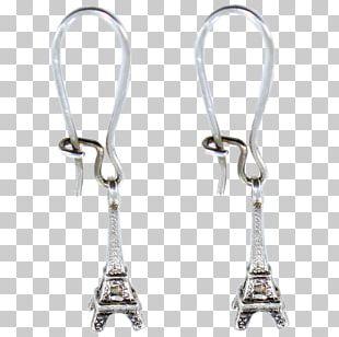 Earring Eiffel Tower Seine Silver Bateau Mouche PNG