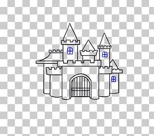 Drawing Castle Cartoon Line Art PNG