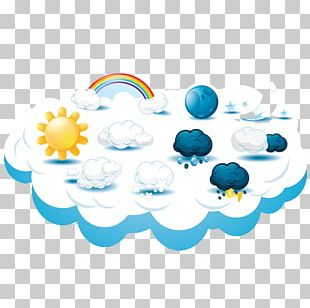 Weather Cloud Cartoon Icon PNG