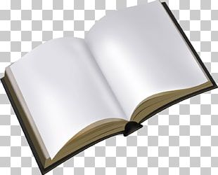 Open White Book PNG