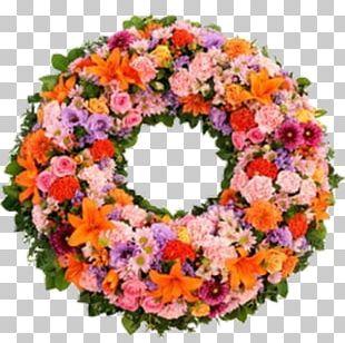 Wreath Floral Design Flower Condolences Funeral PNG