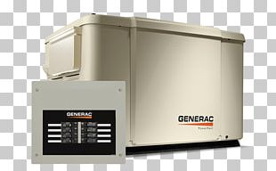 Generac Power Systems Standby Generator Generac PowerPact 7.5kW Standby Electric Generator Transfer Switch PNG