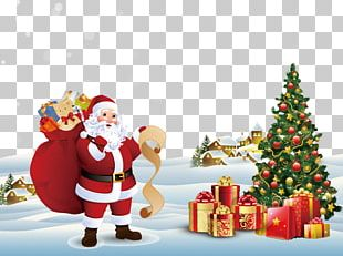 Santa Claus Candy Cane Christmas Decoration Christmas Tree PNG