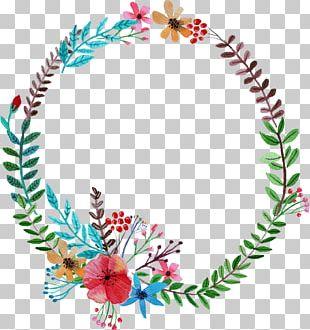 Flower Garland Wreath PNG
