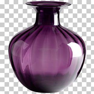 Vase Glass Purple Decorative Arts Living Room PNG