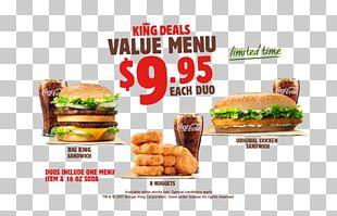 Whopper Fast Food Hamburger Junk Food Veggie Burger PNG
