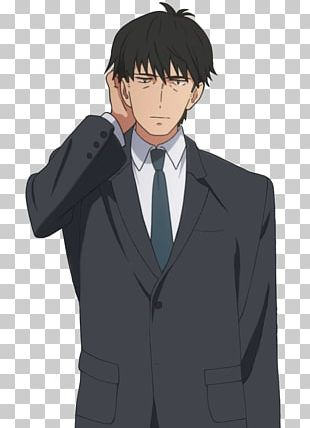 Tuxedo Mangaka Black Hair Necktie PNG
