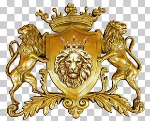 Lion Gold Crest Symbol Logo PNG
