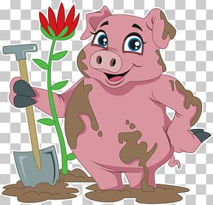 Pig Snout Character PNG