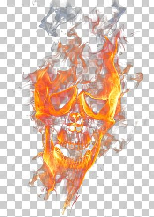 Skull Fire Flame PNG