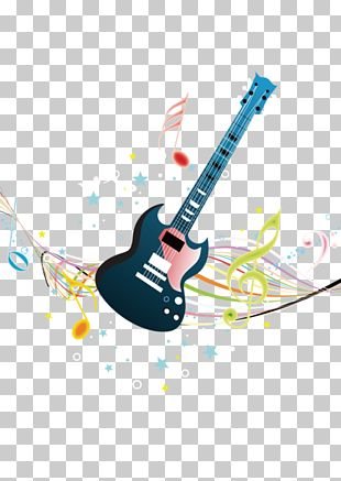 Musical Note Background Music Illustration PNG