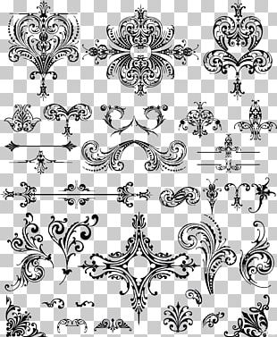 Ornament Floral Design PNG