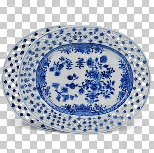Blue And White Pottery Porcelain Ceramic Kraak Ware Underglaze PNG