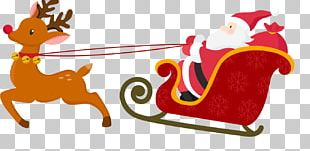 Santa Claus's Reindeer Santa Claus's Reindeer Christmas Card PNG