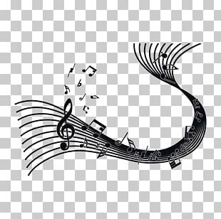 Staff Musical Note Sticker Phonograph Record PNG