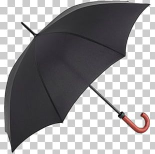 Black Open Umbrella PNG