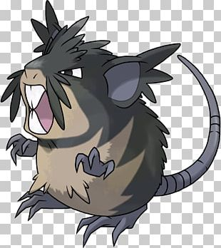 Pokémon Sun And Moon Whiskers Raticate Rattata Alola PNG